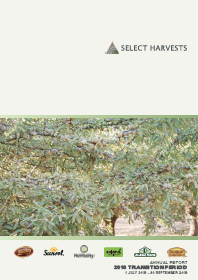 2018 Select Harvests Annual Report (Transition Period)