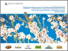 Select Harvests 2018 AGM Presentation