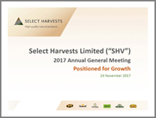 Select Harvests 2017 AGM Presentation