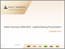 SHV Capital Raising Presentation October 2017
