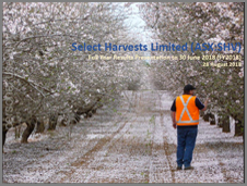 Select Harvests Full Year Results 2018