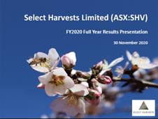 Select Harvests Full Year Results 2020