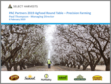 Select Harvests PAC Partners Conference Feb 2019