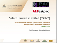 Select Harvests PAC Partners Conference April 2020