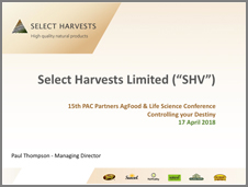 SHV PAC Partners Conference April 2018 ASX